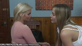 GirlfriendsFilms Shy Straight Chicks First Lesbian Sex!