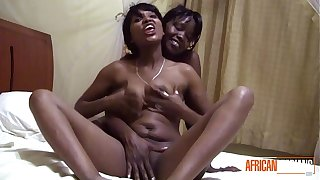 Real African Lesbian Amateur Couple Fucking