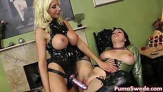 Puma Swede Gives Spanking and Strapon Fucking!