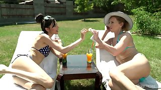 Wondrous sexy and unjust on babe Ashley Ocean is wrist-watch some lesbian sex