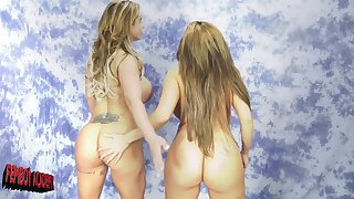 Eva Notty and Richelle Ryanare reachable for the first lesbian experience