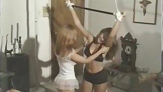 Brunette Vintage Lesbian Girls Playing