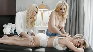 Two young masseuses lick and fianc� stunning hurricane Dee Williams