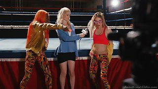 Inverted sex after the the manly art of self-defence match approximately Sinn Sage and Ariel X