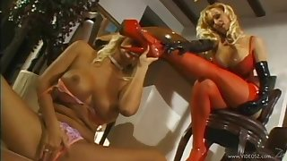 Odd big tit lesbians cannot get enough of each other