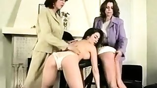 Group sex video with sexy spandex lesbians with an increment of spanking