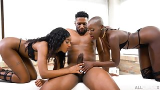 Zaaw aadi And Asia Rae - All Black 3Some Orgy - immutable core
